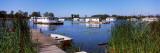 Boathouses in a Lake  Lake Erie  Erie  Pennsylvania  USA