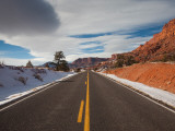 Highway Passing Through a Landscape  Utah State Route 24  Capitol Reef National Park  Torrey