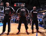 Miami Heat v Dallas Mavericks - Game Five  Dallas  TX -June 9: Dwyane Wade  LeBron James and Chris