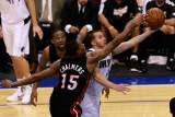 Miami Heat v Dallas Mavericks - Game Five  Dallas  TX -June 9: Jose Juan Barea  Udonis Haslem and M