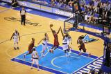 Miami Heat v Dallas Mavericks - Game Three  Dallas  TX -June 5: LeBron James and Ian Mahinmi