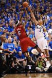 Miami Heat v Dallas Mavericks - Game Three  Dallas  TX -June 5: Shawn Marion and LeBron James