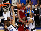 Miami Heat v Dallas Mavericks - Game Four  Dallas  TX -June 7: Dwyane Wade  Dirk Nowitzki and Tyson