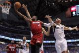 Miami Heat v Dallas Mavericks - Game Three  Dallas  TX -June 5: Dwyane Wade  Dirk Nowitzki and Jaso