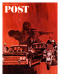 """The Kennedy Assassination "" Saturday Evening Post Cover  January 14  1967"