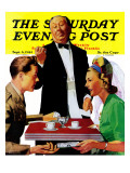 """Dutch Treat "" Saturday Evening Post Cover  September 6  1941"