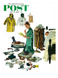 &quot;Checklist for Summer Camp &quot; Saturday Evening Post Cover  June 24  1961
