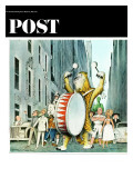 """Advertising Characters on Parade "" Saturday Evening Post Cover  March 13  1965"
