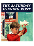 """""""Saving for War Bonds """" Saturday Evening Post Cover  May 2  1942"""
