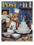 &quot;Icing the Wedding Cake &quot; Saturday Evening Post Cover  June 16  1945