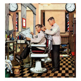 """Barber Getting Haircut "" January 26  1946"