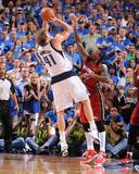 Miami Heat v Dallas Mavericks - Game Three  Dallas  TX -June 5: Dirk Nowitzki and Udonis Haslem