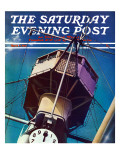 """Tower on Battleship "" Saturday Evening Post Cover  March 9  1940"