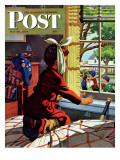 """Mumps "" Saturday Evening Post Cover  May 20  1944"
