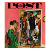 """Hunting His Tux for the Party "" Saturday Evening Post Cover  March 31  1962"