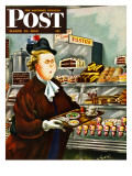 """NO Desserts "" Saturday Evening Post Cover  March 12  1949"