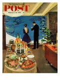 """Snow Buffet Party "" Saturday Evening Post Cover  February 20  1960"
