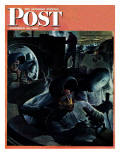 """Tank Factory "" Saturday Evening Post Cover  November 20  1943"