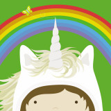 Peek-a-Boo Heroes: Unicorn Reproduction d'art par Yuko Lau