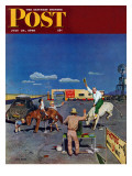 """Photos on Fake Broncos "" Saturday Evening Post Cover  July 24  1948"