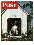 """In the Doghouse "" Saturday Evening Post Cover  April 24  1948"