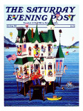&quot;Lake House &quot; Saturday Evening Post Cover  July/Aug 1983
