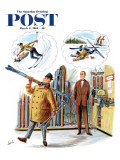 """New Skier "" Saturday Evening Post Cover  March 4  1961"