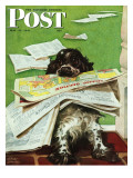 &quot;Butch and the Sunday Paper &quot; Saturday Evening Post Cover  May 31  1947