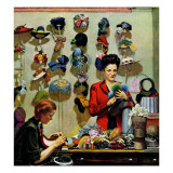 """Millinery Shop "" March 10  1945"
