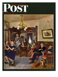 """Thanksgiving Flute Performance "" Saturday Evening Post Cover  November 30  1946"