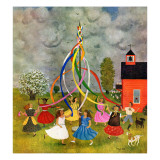 """Schoolyard Maypole Dance "" May 4  1946"