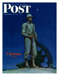"""Lone Soldier "" Saturday Evening Post Cover  December 25  1943"