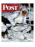 """Ski Patrol Soldier "" Saturday Evening Post Cover  March 27  1943"
