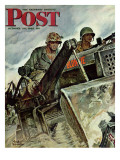 """Corp of Engineers "" Saturday Evening Post Cover  October 28  1944"