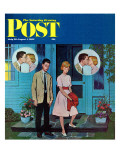 """Goodnight Kiss "" Saturday Evening Post Cover  July 28  1962"