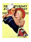 """Soldier or Sailor "" Saturday Evening Post Cover  October 19  1940"
