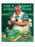 &quot;St Paddy Cake for Policemen &quot; Saturday Evening Post Cover  March 16  1940