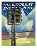 """Baseball Stadium at Night,"" Saturday Evening Post Cover, June 28, 1941 Giclée par Roy Hilton"