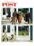 """Puppy Sellout "" Saturday Evening Post Cover  April 30  1960"