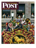 """Clown Band "" Saturday Evening Post Cover  June 26  1948"