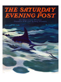 """Swordfish "" Saturday Evening Post Cover  February 28  1942"