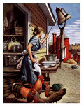 """Dinner Bell,"" October 21, 1944 Giclée par Stevan Dohanos"
