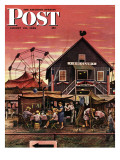 """Four-H Fair "" Saturday Evening Post Cover  August 28  1948"