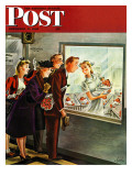 """Maternity Ward "" Saturday Evening Post Cover  November 2  1946"