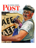 """Sending Supplies Overseas "" Saturday Evening Post Cover  August 15  1942"