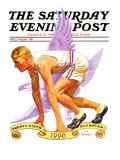 """26th Olympiad "" Saturday Evening Post Cover  July/Aug 1996"