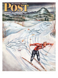 &quot;Snow Skiier After the Falls &quot; Saturday Evening Post Cover  January 25  1947