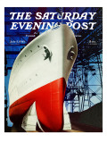 """Dry Dock "" Saturday Evening Post Cover  July 5  1941"
