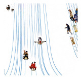 """Sledding Designs in the Snow "" February 3  1962"