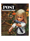 """New Toys 1963 "" Saturday Evening Post Cover  December 7  1963"